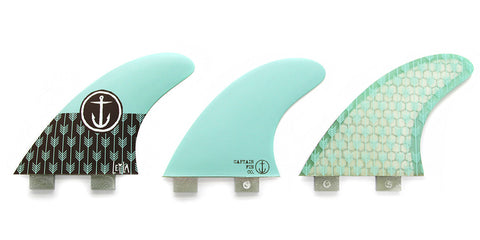 Captain Fin Leila Hurst Twin Tab Tri Fin Set