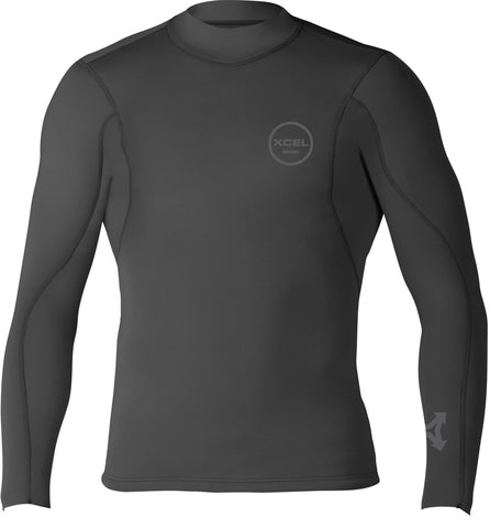 Xcel Axis L/S 2/1mm Top - Black '18