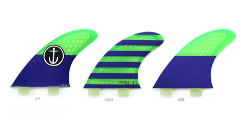 Captain Fin CF Grom Twin Tab Tri Fin Set