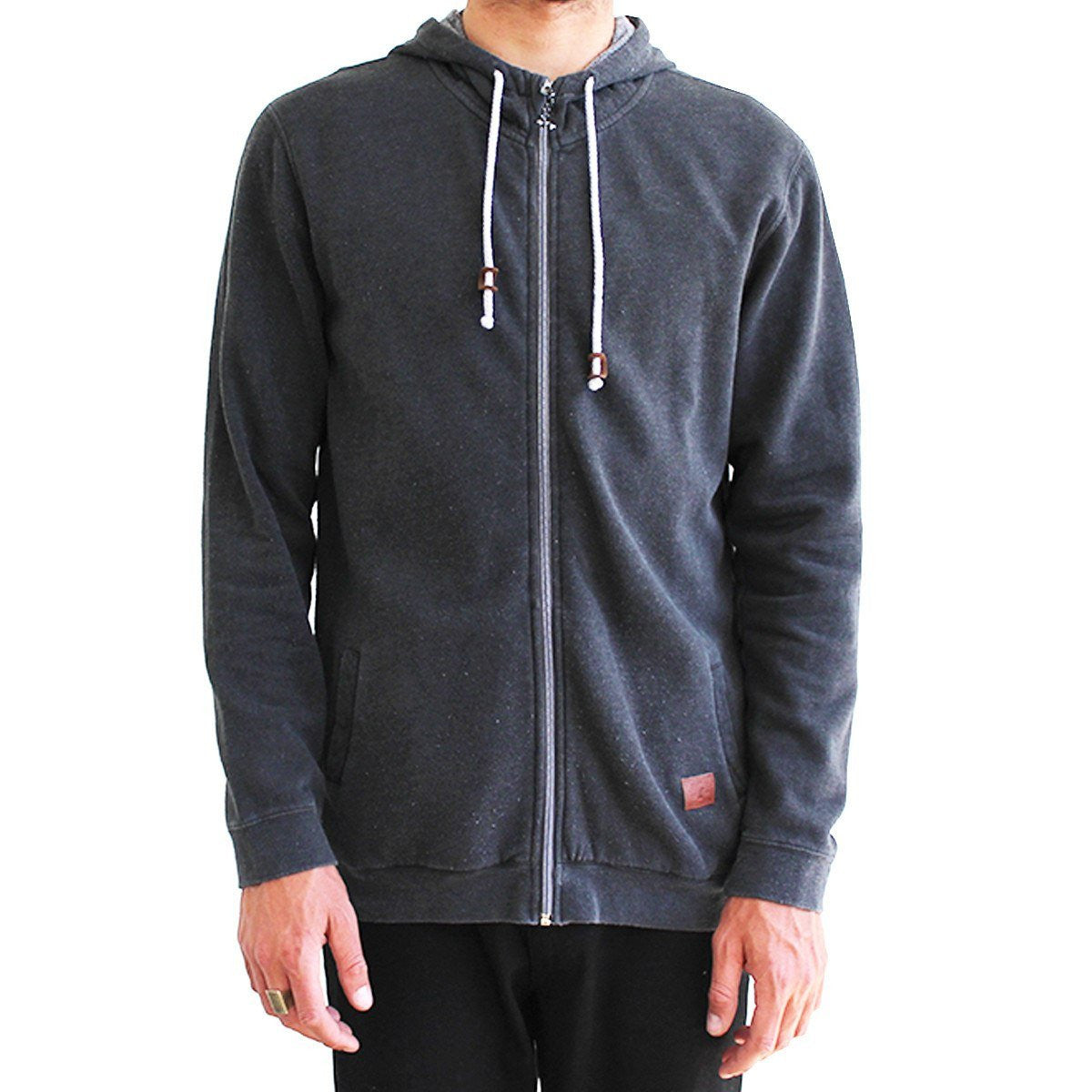 CAPTAIN FIN JEFFERSON ZIP FLEECE - VINTAGE BLACK