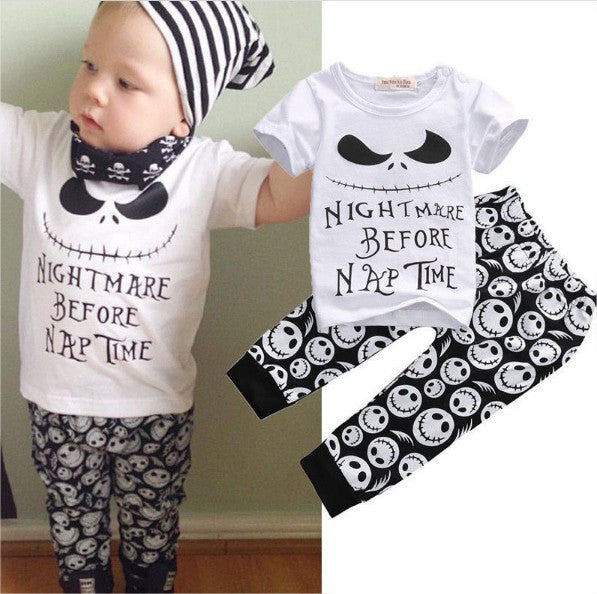 Nightmare Before Christmas Newborn Baby Infant Boy Toddler Clothes