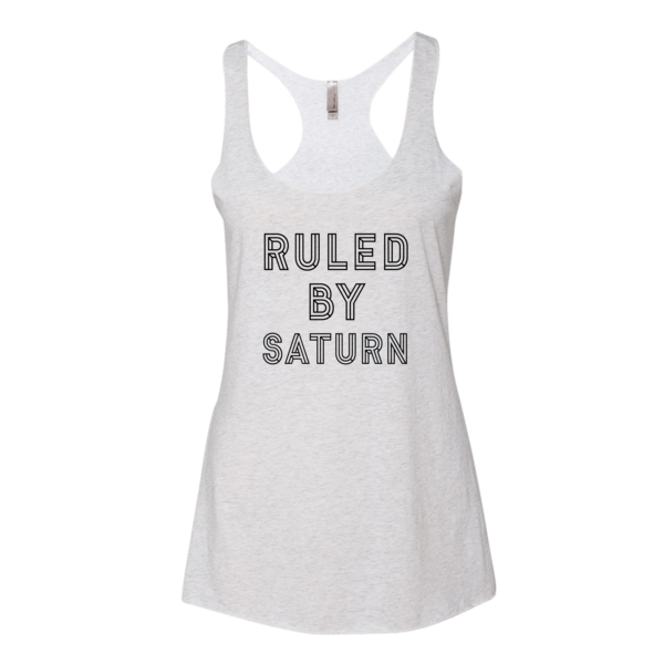 Ruled By Saturn - Tank White