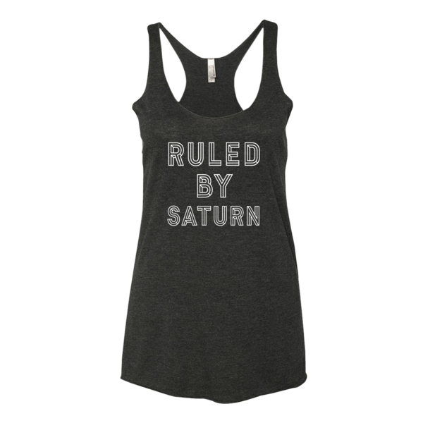 Ruled By Saturn - Tank Black
