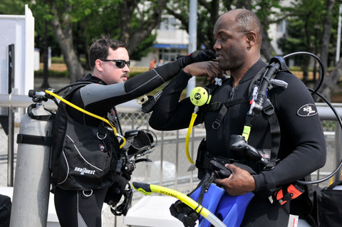 Pre-Dive Safety Check with PADI Diver
