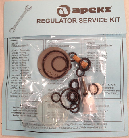Apeks 1st Stage Service Kit, diaphragm (except Flight)