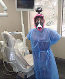 Dental technician with COVID-19 Oceanreef mask.