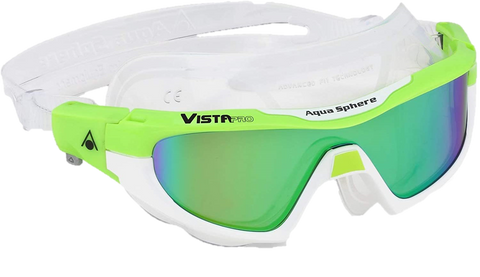 Aquasphere Vista Pro Green Multi-Mirrored Lens Lime and White