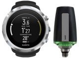 Suunto D5 Dive Computer Black with Silver Bezel and Suunto Tank POD
