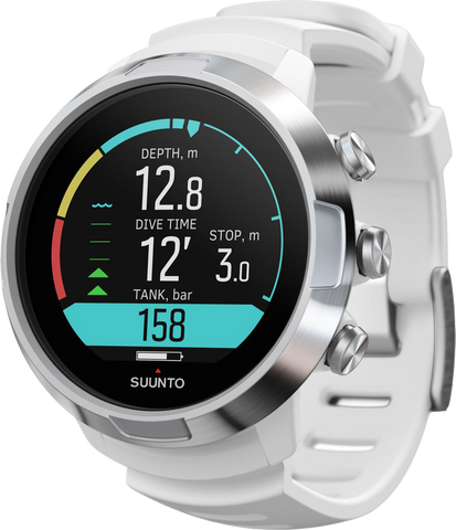 Suunto D5 Dive Computer white with Silver Bezel