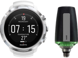 Suunto D5 Dive Computer White with Silver Bezel and Suunto Tank Pod