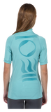 Fourth Element Women's Short Sleeve Hydroskin Pastel Turquoise