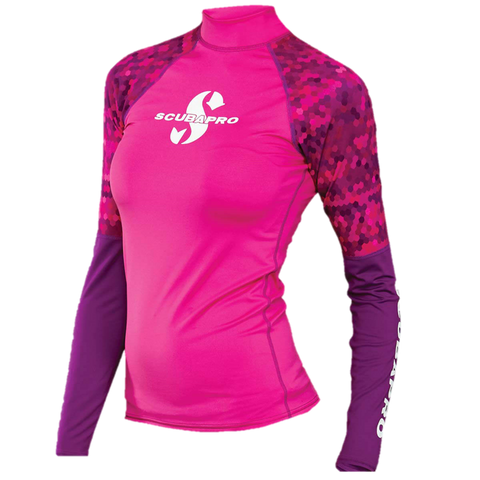 ScubaPro UPF50 Long Sleeve Women's Rash Guard - Pink