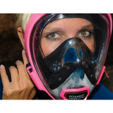 Woman with QR+ Oceanreef mask