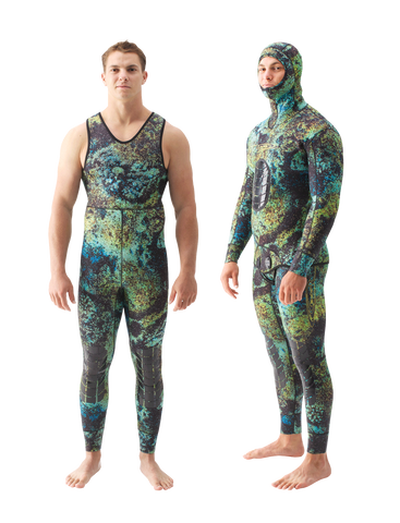 Riffe Digi-Tek Camo 5mm 2pc Wetsuit (Hooded Top & Farmer John Bottom)
