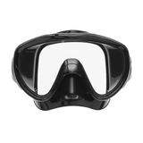 ScubaPro Flux Mask Black with Black Skirt Front