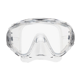 ScubaPro Flux Mask Clear with Clear Skirt
