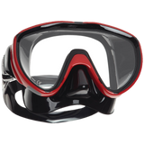 ScubaPro Flux Mask Metallic Red with Black Skirt