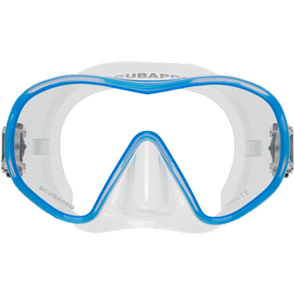 ScubaPro Solo Dive Mask Blue with Clear Skirt