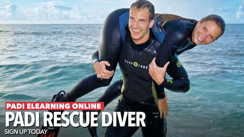 PADI Rescue Diver e-learning gift pass