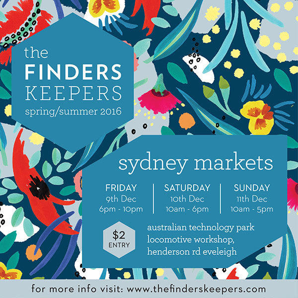 Sydney Finders Keepers Markets this weekend!