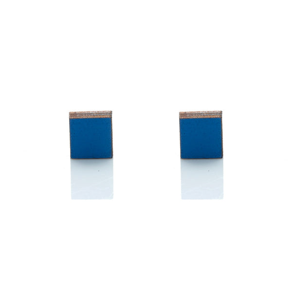Diamond Studs - Marlin Blue