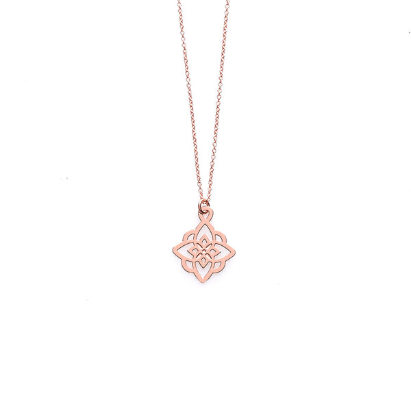 Rose Gold Lily Pendant