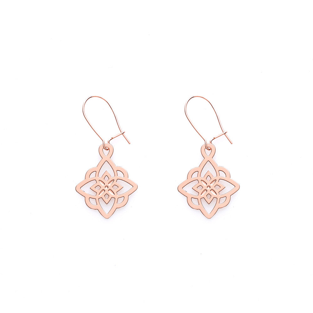 Rose Gold Lily Earrings