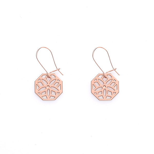 Rose Gold Poppy Earrings