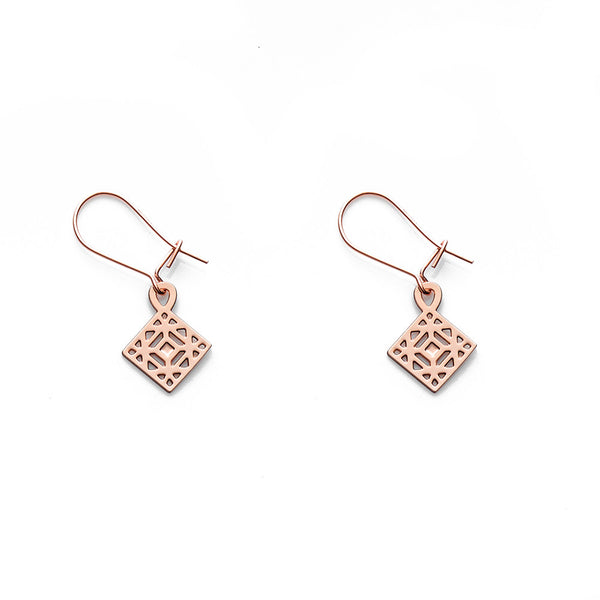 Rose Gold Zeke Earrings