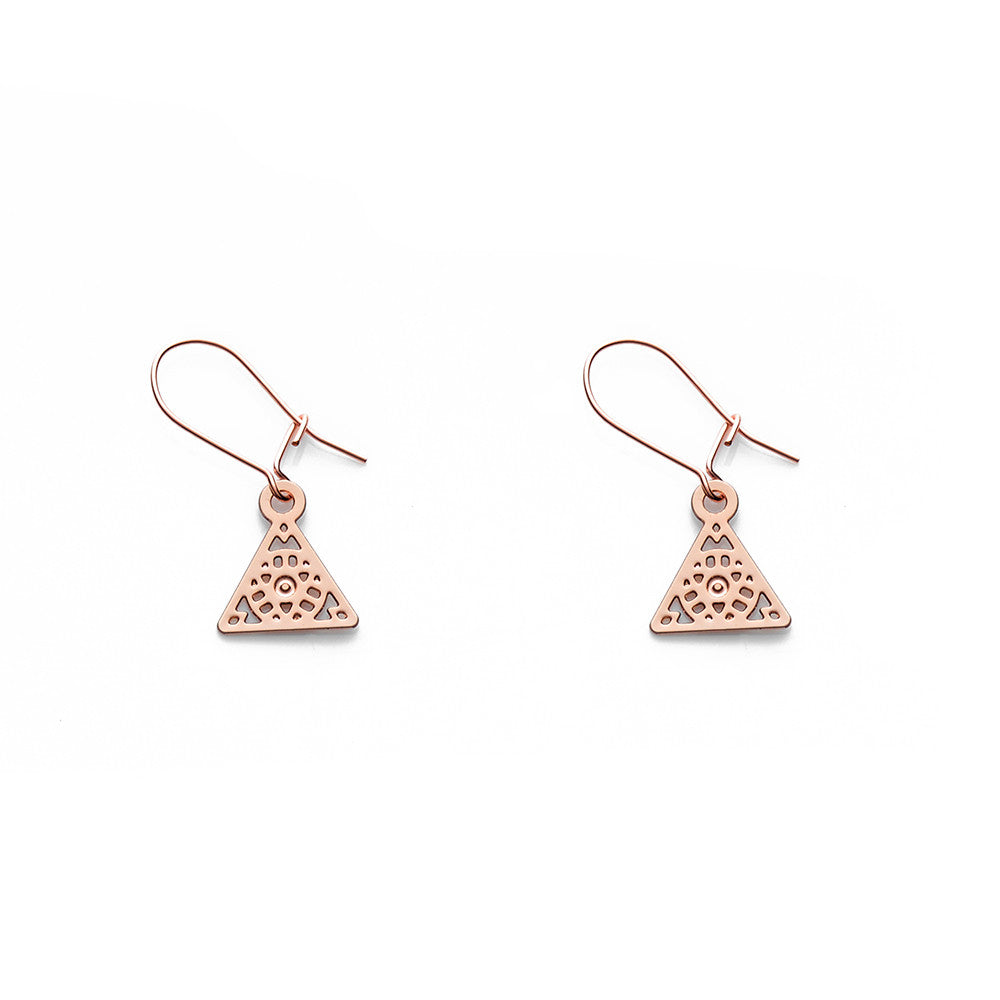 Rose Gold Nico Earrings