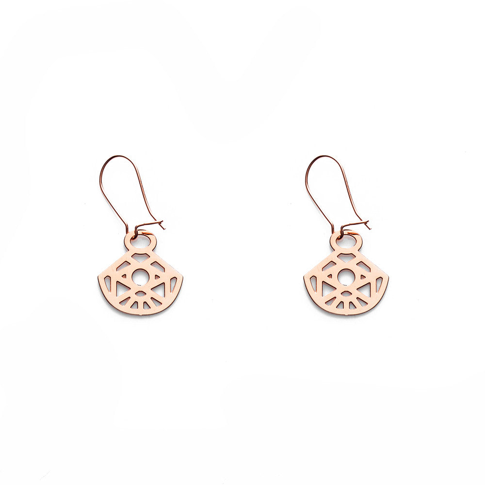 Rose Gold Zeta Earrings