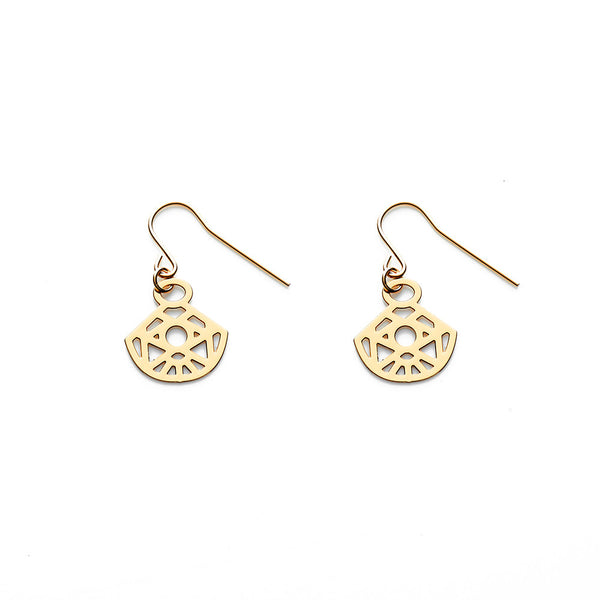 Gold Zeta Earrings