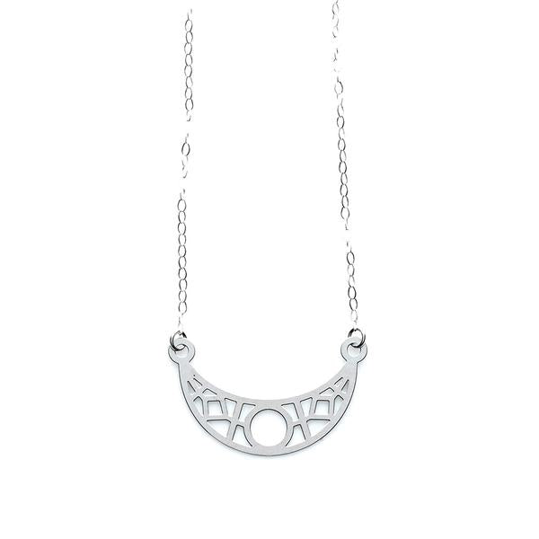 SS Crescent Necklace