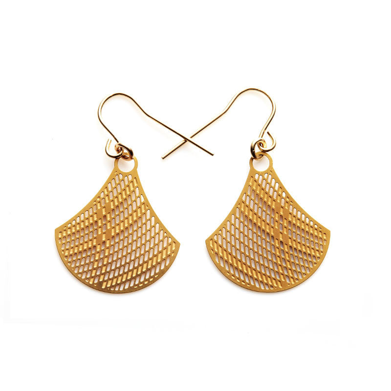 Gold Baskets Small Earrings