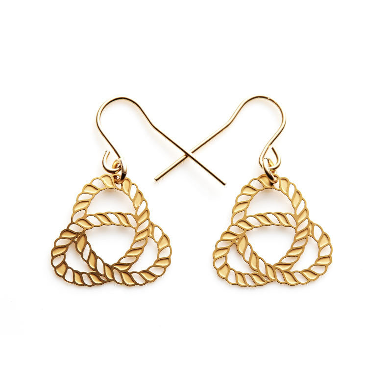 Gold Knot Small Earrings