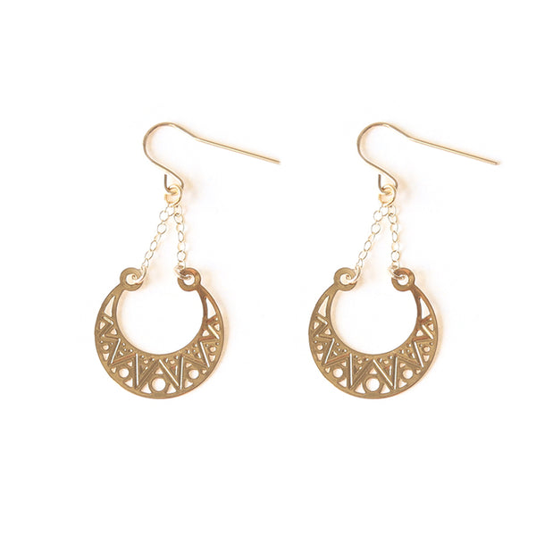 Gold Aroura Earrings
