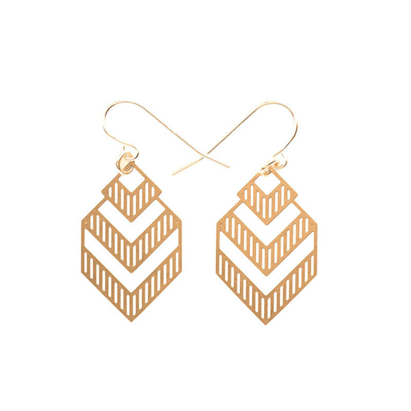 Gold Deco Small Earrings