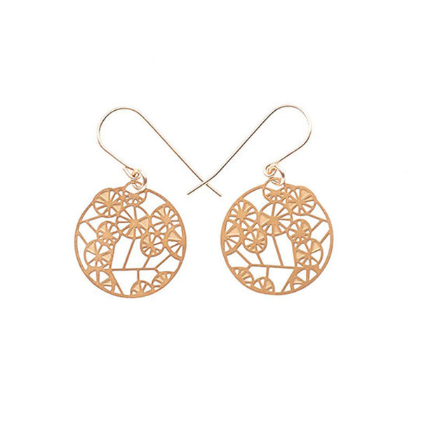 Gold Wattle Tiny Earrings