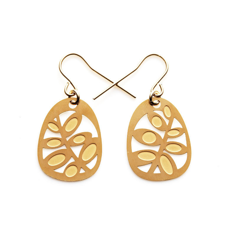 Gold Succulents Earrings