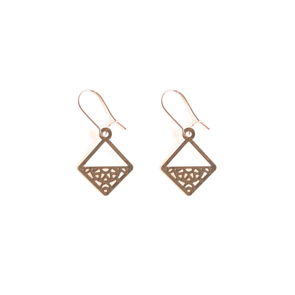 Rose Gold Aquarius Earrings