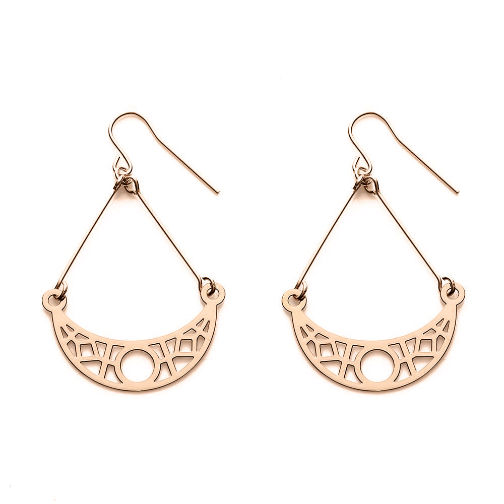 Rose Gold Crescent Earrings - Limited Edition