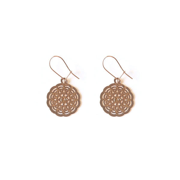 Rose Gold Lyra Earrings