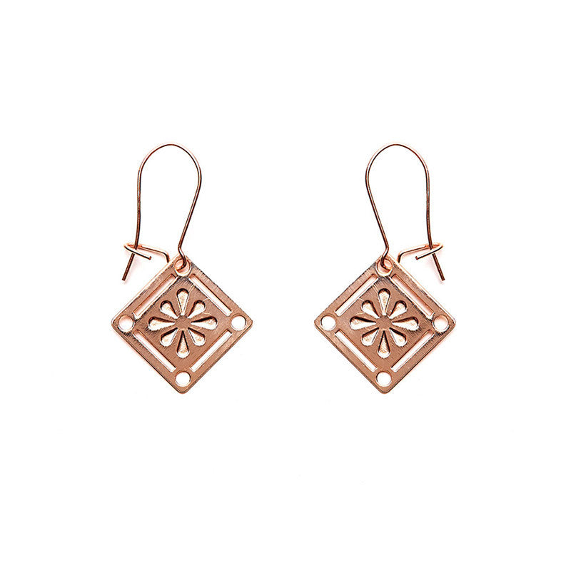 Rose Gold Valentina Earrings