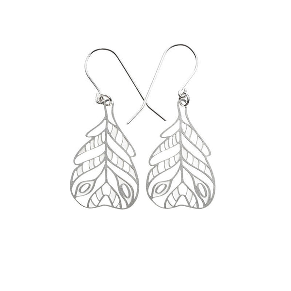 Feather Stripe Small Earrings