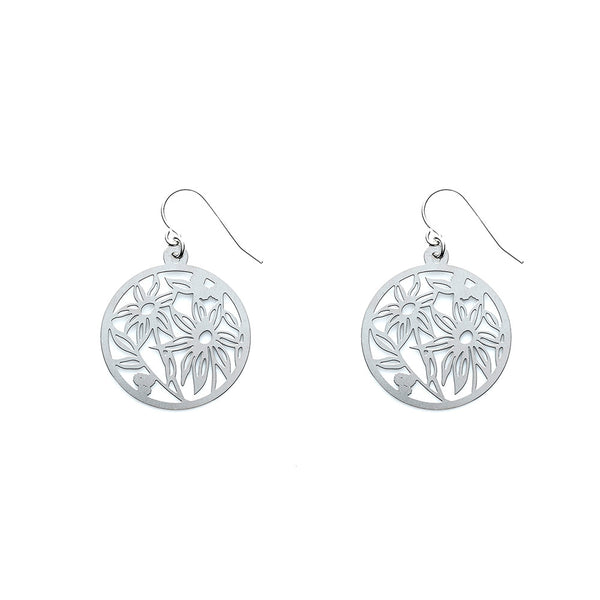 SS Flannel Flower Earrings
