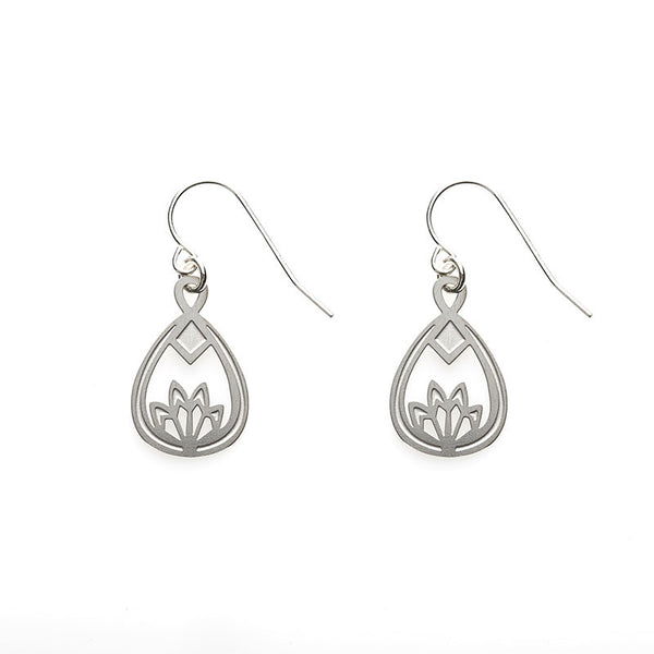 SS Lotus Earrings