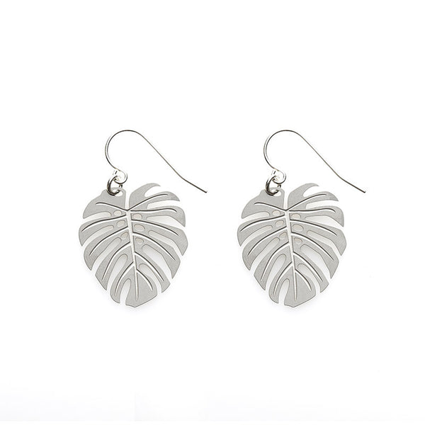 SS Monstera Earrings
