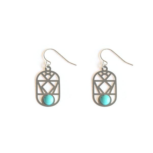 SS Nevada Earrings Turquoise