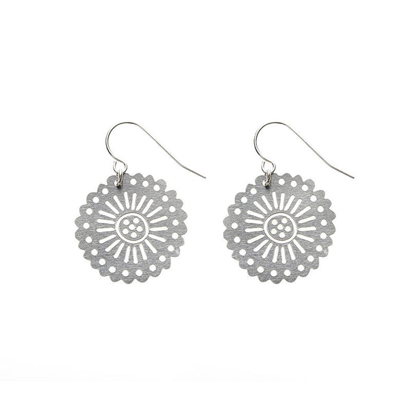 SS Pinwheel Earrings