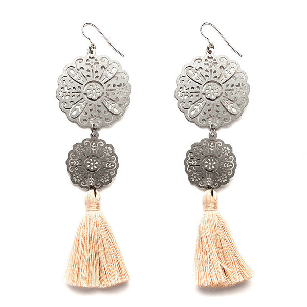 SS Rosa Tassel Earrings - BACK SOON